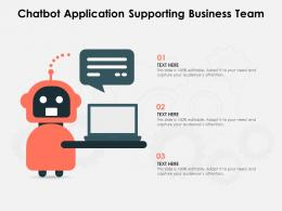 Chatbot Application Supporting Business Team