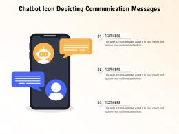 Chatbot Icon Depicting Communication Messages