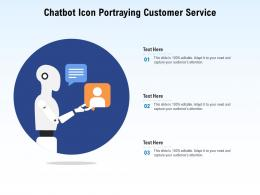 Chatbot Icon Portraying Customer Service