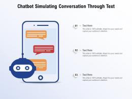 Chatbot Simulating Conversation Through Text