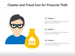 Cheater And Fraud Icon For Financial Theft