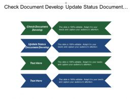 Check Document Develop Update Status Document Develop Personal Career