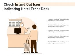 Check In And Out Icon Indicating Hotel Front Desk