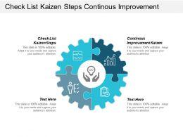 Check List Kaizen Steps Continues Improvement Kaizen Kaizen Mindset Cpb