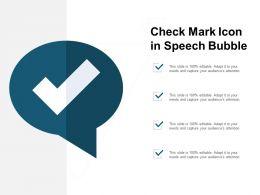 Check Mark Icon In Speech Bubble
