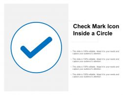 Check Mark Icon Inside A Circle