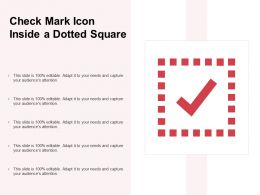 Check Mark Icon Inside A Dotted Square