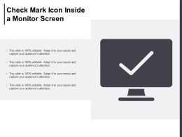 Check Mark Icon Inside A Monitor Screen