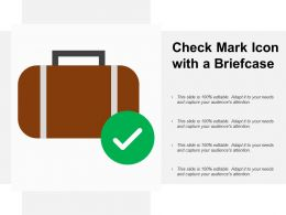 Check Mark Icon With A Briefcase