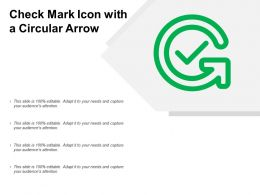 Check Mark Icon With A Circular Arrow