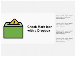 Check Mark Icon With A Dropbox