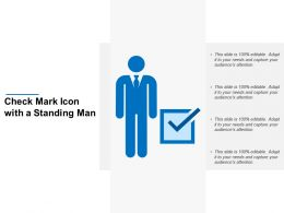 Check Mark Icon With A Standing Man