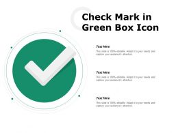 Check Mark In Green Box Icon