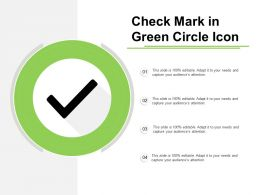 Check Mark In Green Circle Icon