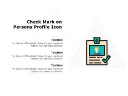Check Mark On Persons Profile Icon