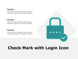 Check Mark With Login Icon