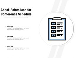 Check Points Icon For Conference Schedule