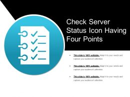 Check Server Status Icon Having Four Points