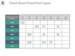 Check Sheet Powerpoint Layout