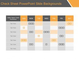 Check Sheet Powerpoint Slide Backgrounds