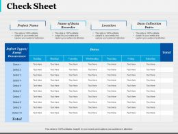Check Sheet Ppt Infographic Template Infographic Template