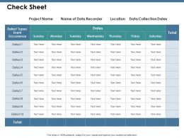 Check Sheet Ppt Summary Background Images