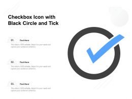 Checkbox Icon With Black Circle And Tick