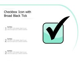 Checkbox Icon With Broad Black Tick