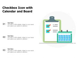 Checkbox Icon With Calendar And Board