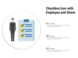 Checkbox Icon With Employee And Sheet