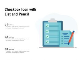 Checkbox Icon With List And Pencil