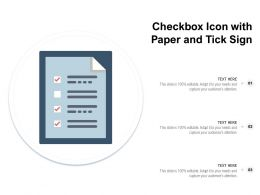 Checkbox Icon With Paper And Tick Sign