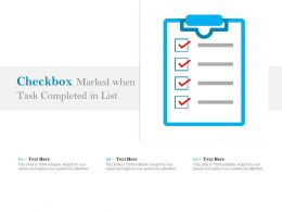 Checkbox Marked When Task Completed In List
