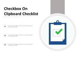 Checkbox On Clipboard Checklist