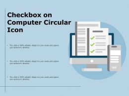 Checkbox On Computer Circular Icon