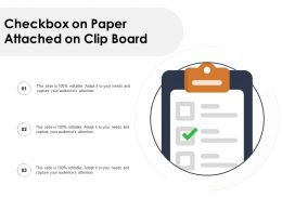 Checkbox On Paper Attached On Clip Board