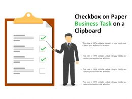 Checkbox On Paper Business Task On A Clipboard