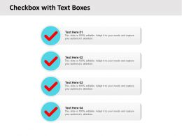 Checkbox With Text Boxes