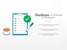 Checkboxes In Checklist At Workplace