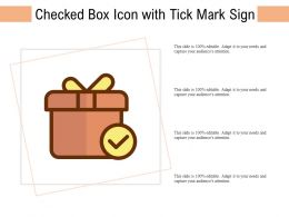 Checked Box Icon With Tick Mark Sign