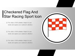 Checkered Flag Red And White