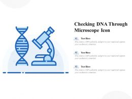 Checking DNA Through Microscope Icon