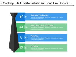 Checking File Update Installment Loan File Update Checking Account Processing