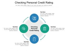 Checking Personal Credit Rating Ppt Powerpoint Gallery Graphics Tutorials Cpb