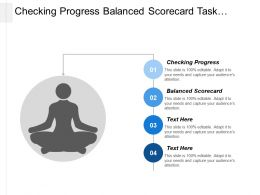 Checking Progress Balanced Scorecard Task Environment Industry Analysis Cpb