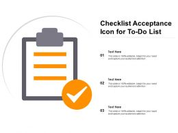 Checklist Acceptance Icon For To Do List
