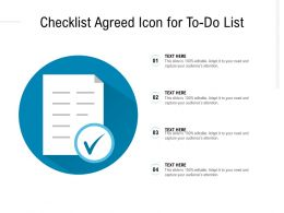 Checklist Agreed Icon For To Do List
