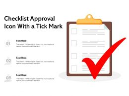 Checklist Approval Icon With A Tick Mark