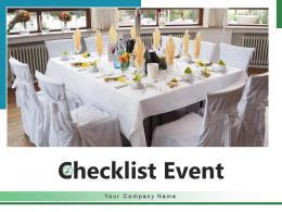 Checklist Event Important Essential Planning Schedule Logistic Effective