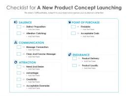 Checklist For A New Product Concept Launching